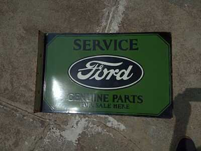 $ CDN128.67 • Buy Porcelain Ford Green Flange Enamel Sign SIZE 28 X 18 INCHES