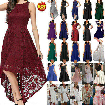 AU23.65 • Buy Womens Swing Skater A-Line Dress Ladies Evening Party Wedding Cocktail Prom Gown