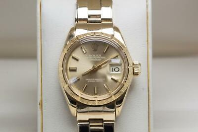 $ CDN5613.48 • Buy Ladies 18ct Gold Rolex Oyster Perpetual Datejust Wristwatch Ref 6901 Gold Dial