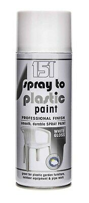 £13.99 • Buy 151 Spray To Plastic Paint White Gloss Smooth Durable Professional Finish 400ML
