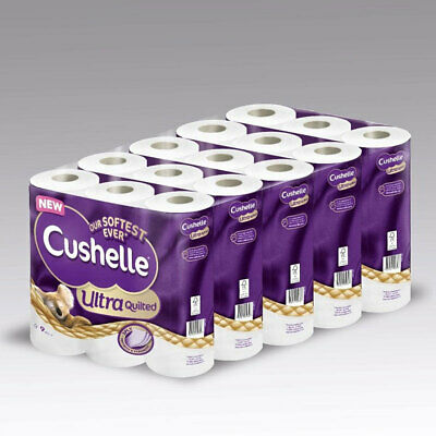 Cushelle Ultra Quilted 3-Ply Toilet Tissue, 45 Rolls • 24.95£