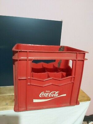£27.95 • Buy COCA COLA - COKE  VINTAGE RED CRATE 12 BOTTLES  Fair Condition - Needs A Clean