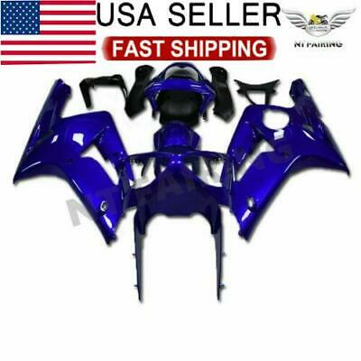 $449.99 • Buy CO Injection Molding Fairing Fit For Kawasaki 2003 2004 ZX6R 636 Blue Set A010