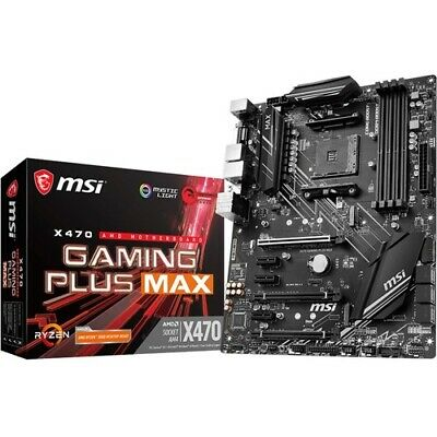 AU170.39 • Buy NEW MSI X470GPLMAX X470 GAMING PLUS MAX Desktop Motherboard