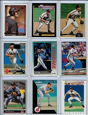 $1 • Buy JIM THOME Baseball Cards 1992-2021 Cleveland Indians ( Pick Card )