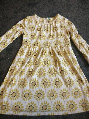 AU5.39 • Buy John Lewis Girls Sunflower Jersey Dress And Yellow Cardigan Age 6
