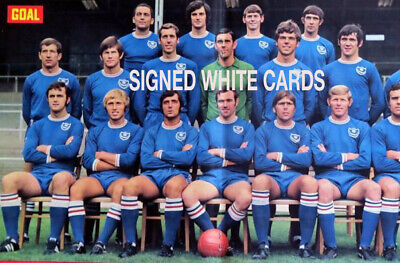 £3.99 • Buy PORTSMOUTH FC AUTOGRAPHS FROM LATE 1970-90's SIGNED WHITE CARDS