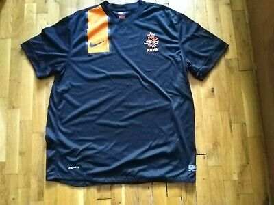 Netherlands Rare Away Football Shirt Tricot Jersey 2012 - 2013 Nike Black Size X • 24.99£