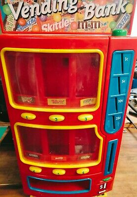 $40 • Buy Mars M&M's Candy Vending Machine Penny Bank 2004 Snickers Twix Skittles Fun Size