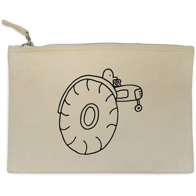 AU17.98 • Buy 'Man On Tractor' Canvas Clutch Bag / Accessory Case (CL00009579)