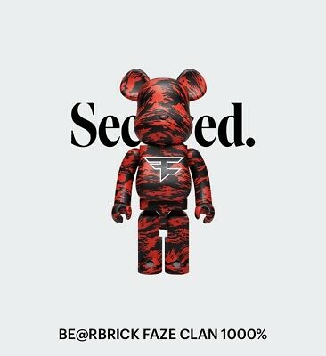 $1200 • Buy Bear Brick X FaZe Clan 1000% Rare XL Be@rbrick 'CONFIRMED ORDER'