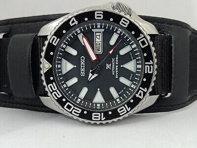 $ CDN160.06 • Buy Seiko Diver 7s26-0020 Skx007 Stunning Black Airdivers Automatic Watch 770215