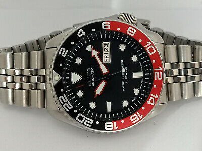 $ CDN32.64 • Buy Seiko Diver Submariner Black Mod 7s26-0020 Skx007 Automatic Men Watch 700512