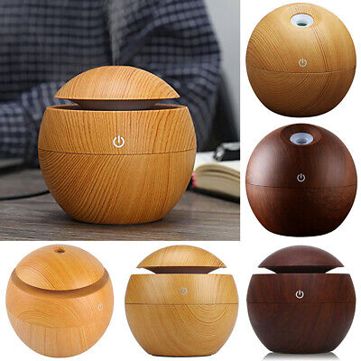 AU28.19 • Buy Small Aroma Essential Oil Diffuser Wood Grain Ultrasonic Aromatherapy Humidifier