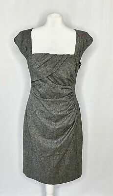 AU125.04 • Buy Lk Bennett Fitted Shift Dress Uk 14 New Tina Grey Wool