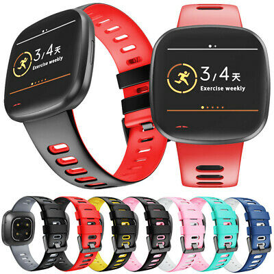 $ CDN13.40 • Buy For Fitbit Versa 3 /Sense Watch Strap Replacement Silicone Sports Wrist Band