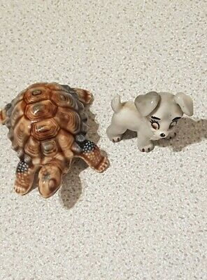 Wade - Small Porcelain Tortoise & Scamp Whimsie. • 3.99£