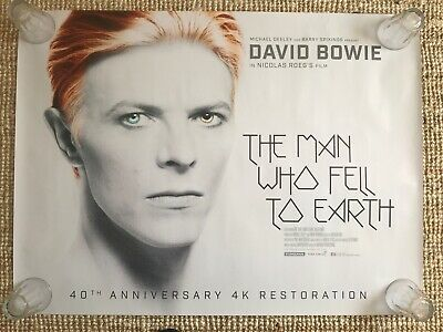 The Man Who Fell To Earth (2016 Reissue) David Bowie Original UK Quad Poster • 49.95£