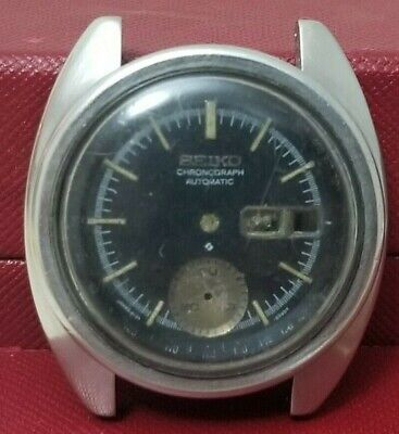 $ CDN120.50 • Buy Seiko 6139-6012  Case And Black Dial For Parts