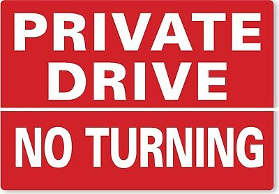 £8.99 • Buy METAL SIGN Private Drive No Turning Red White