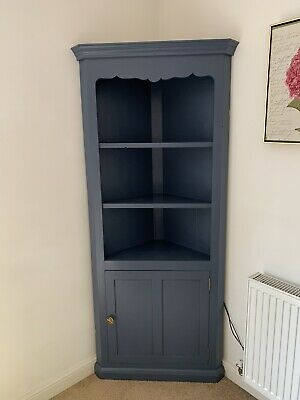 Upcycled Corner Cupboard In Stiffkey Blue • 80£