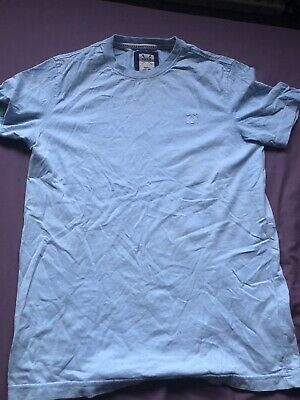 AU1.79 • Buy Ladies Womens Baby Blue Crew Clothing T Shirt Size Small