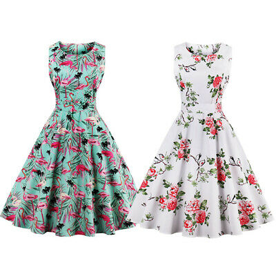 £15.99 • Buy Womens Plus Size 1950s 60s Vintage Floral Rockabilly Cocktail Party Swing Dress