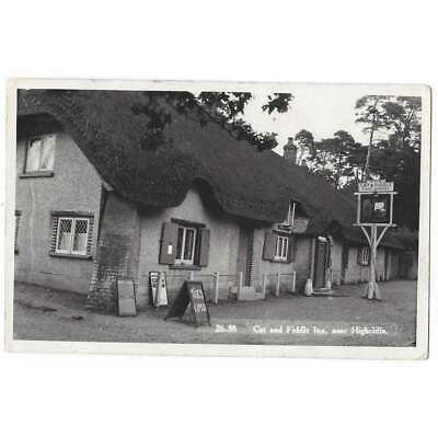 £4.50 • Buy HIGHCLIFFE Cat And Fiddle Inn, Dorset, RP Postcard Postally Used 1950