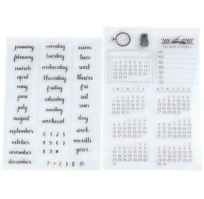 £6 • Buy 2Pcs Clear Stamps Weekdays / Dates / Calendars