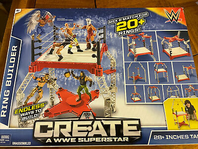 £50.90 • Buy WWE CREATE A WWE SUPERSTAR RING BUILDER 20+ RINGS 28  Tall BRAND NEW!