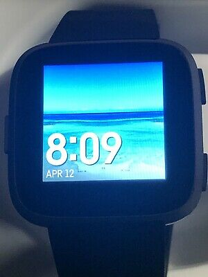 $ CDN68.93 • Buy Fitbit Versa Special Edition Watch Graphite Case Black Band Great Condition