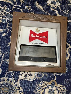 $ CDN14.44 • Buy Vintage Budweiser Light Up Bar Sign CLOCK Untested Condition Rare