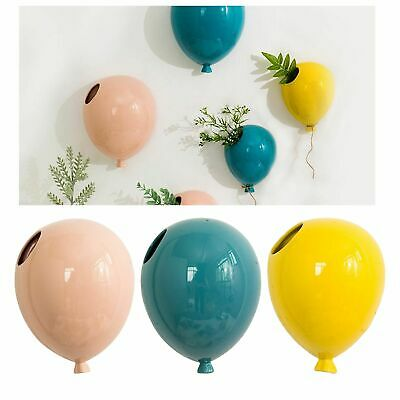 Hanging Ceramic Planters Succulent Plant Pots Home Office Wall Decors Art Gifts • 15.91£
