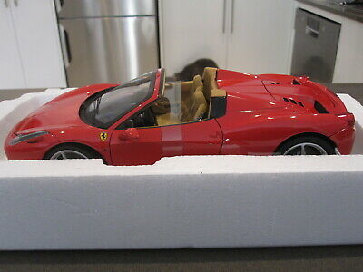 1:18 Hot Wheels Elite Ferrari 458 Italia Spider Red *new* • 271.74£