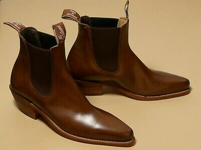 AU475 • Buy RM Williams MILLICENT BOOTS -  Burnished Crust Leather Size 7.5D - RRP $745