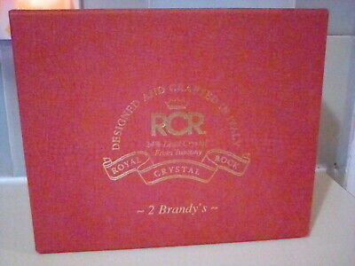 2 X RCR Royal Crystal Rock Boxed Lead Crystal Brandy Glasses From Tuscany • 19.99£