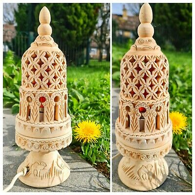 Vintage Moroccan Terracotta Handcrafted Intricate Cut Out Table Lamp Lantern 12  • 45£