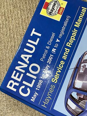 Haynes Service And Repair Manual Renault Clio May 1998 To May 2001 Hardback • 10£
