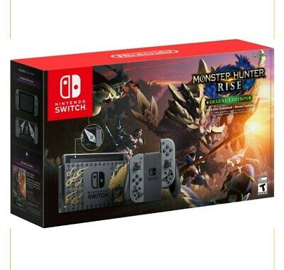 AU544.01 • Buy Nintendo Switch Monster Hunter Rise Deluxe Edition Console - Brand New In-Hand