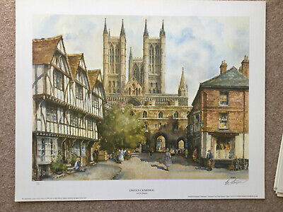 £12 • Buy Signed & Numbered ER Sturgeon Fine Art Print Lincoln Cathedral