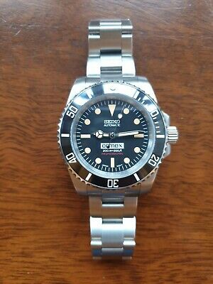 $ CDN172.84 • Buy Seiko Nh35 Modded OLD Meets NEW Submariner Vintage Divers Watch Automatic Comex