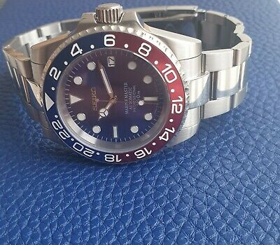 $ CDN170.64 • Buy Seiko Nh35 Modded NEW Submariner Pepsi  Divers Watch Automatic