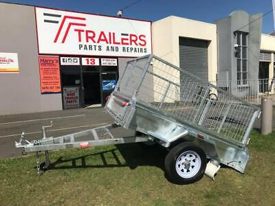 AU1400 • Buy 6x4 Trailer Used With Cage And Locks And Chains