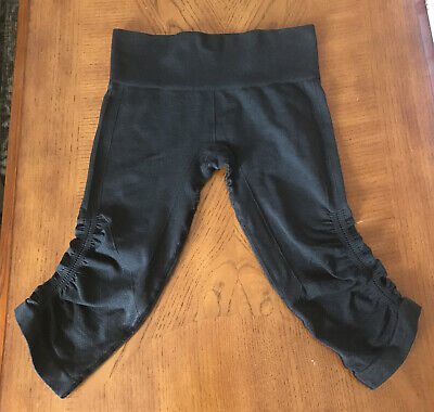 $ CDN31.21 • Buy LULULEMON IN THE FLOW CROP PANTS Gray Charcoal YOGA PILATES GYM RUN SPIN Size 6