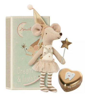 $50 • Buy Maileg Tooth Fairy Big Sister Mouse In A Box With Gold Tin