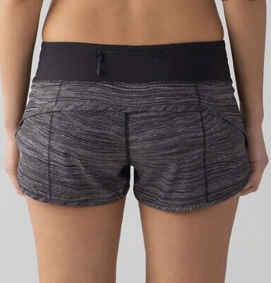 $ CDN38.73 • Buy Lululemon Speed Shorts Sz 6 Lined 2.5  Inseam Gray