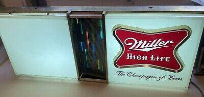 $150 • Buy Vintage  Miller High Life Beer Neon Ad Sign W/ Light Box Rainbow Rare Find!