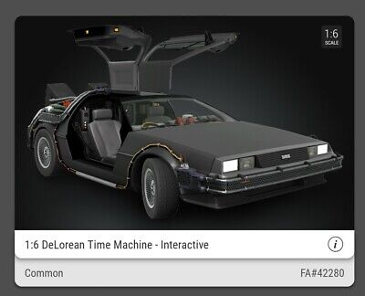 AU32.24 • Buy VeVe Sold Out NFT 1:6 DeLorean Time Machine - Interactive Common #42280