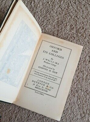 £10 • Buy Oxford And Its Colleges J Wells, 1898