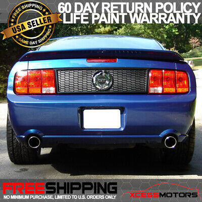 $135.99 • Buy Fits 05-09 Ford Mustang OE Style Trunk Spoiler Wing Painted UA Pitch Black ABS